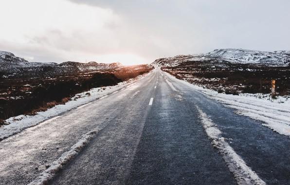 Картинка холод, дорога, утро