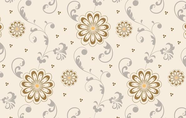 Картинка фон, узор, Цветы, Тестура, беж