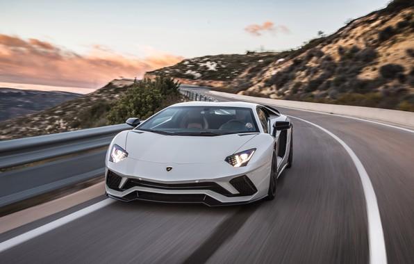 Картинка вечер, Lamborghini, суперкар, Aventador S