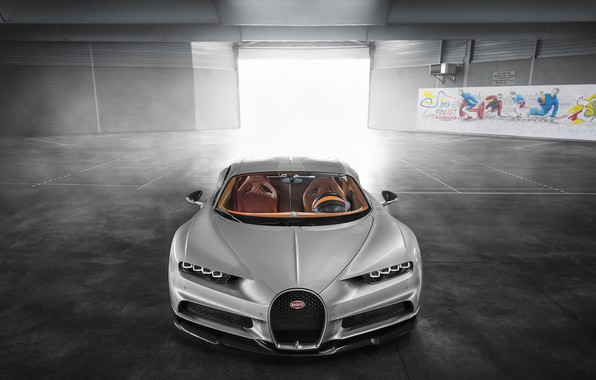 Картинка Bugatti, Turbo, Silver, VAG, W16, Sight, Chiron