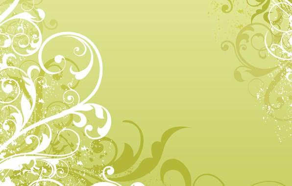 Картинка белый, зеленый, узор, вектор, текстура, орнамент, Abstract, design, background