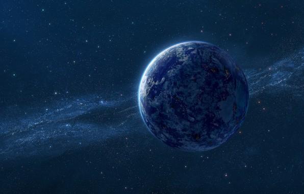 Картинка космос, звезды, вселенная, планета