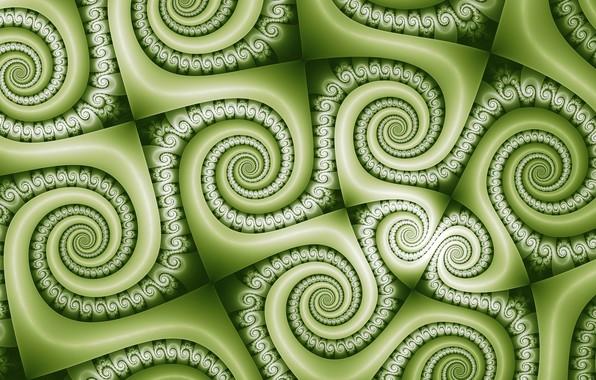 Картинка завитки, текстура, зелёный цвет