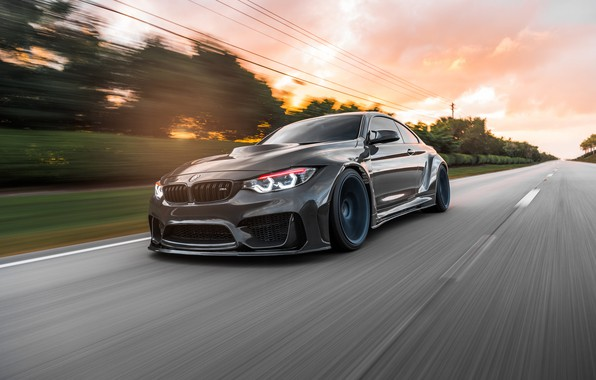 Картинка BMW, Sunset, Evening, F82, Dynamic, Sight, Graphite, LED