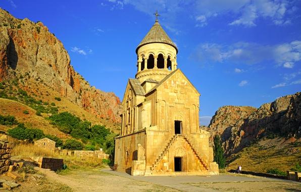 Картинка горы, храм, Армения, Noravank, Буртелашен, Сурб Аствацацин