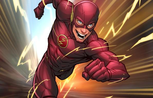 Картинка супергерой, art, flash, DC Comics, Patrick Brown, PatrickBrown, barry allen