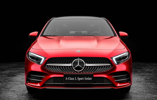 Картинка Mercedes-Benz, вид спереди, Sedan, A-Class, 2019, A200, L Sport