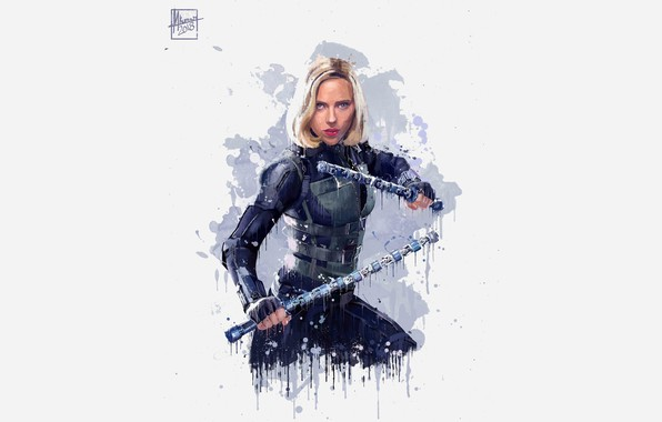Картинка Рисунок, Блондинка, Scarlett Johansson, Костюм, Актриса, Герой, Кино, Скарлетт Йоханссон, Супергерой, Hero, Фильм, Фантастика, Marvel, …