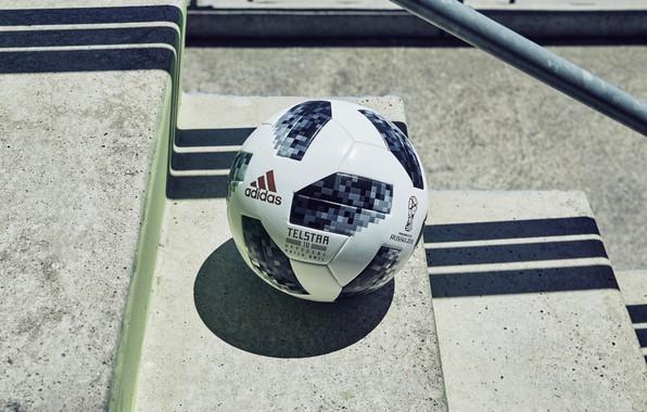 Картинка Мяч, Спорт, Футбол, Адидас, Россия, Adidas, ФИФА, FIFA, ЧМ 2018, Adidas Telstar 18, Telstar 18, …