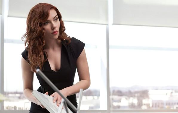Картинка Scarlett Johansson, Актриса, Герой, Кино, Скарлетт Йоханссон, Супергерой, Hero, Фильм, Рыжая, Железный человек 2, Iron …