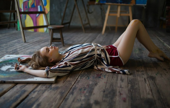 Картинка краски, шорты, творчество, кисть, Анастасия Щеглова