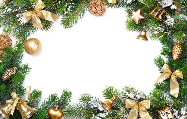 Картинка украшения, елка, Новый Год, Рождество, happy, Christmas, New Year, Merry Christmas, Xmas, gift, decoration, frame, …