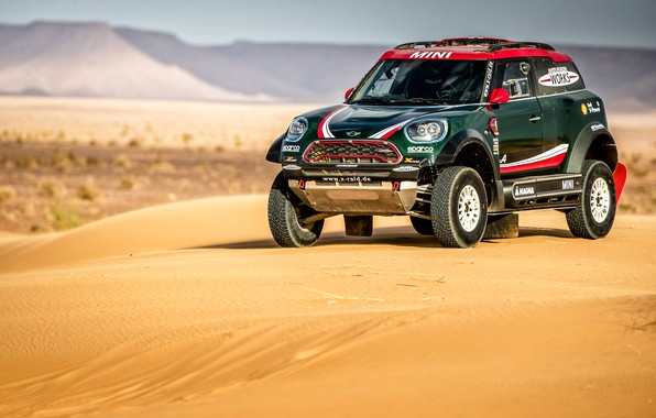 Фото обои Ралли, Cooper, Mini, Dakar, Rally, Мини, Песок, Mini Cooper