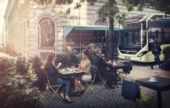 Картинка Volvo, Вольво, Гётеборг, electric bus, Gothenburg, Volvo 7900 Electric, Volvo Buses, электрический автобус