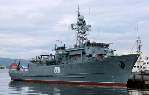 Картинка ВМФ, морской, тральщик, Комендор, проект 266м
