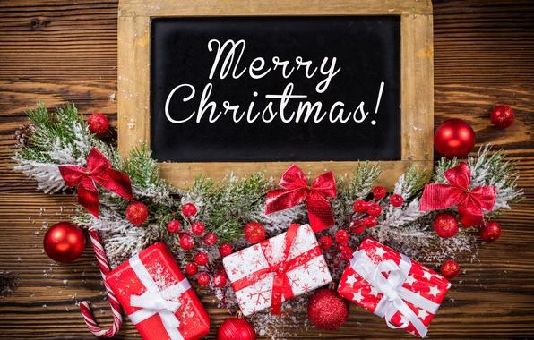 Картинка Новый Год, Рождество, christmas, balls, merry christmas, decoration, gifts, xmas
