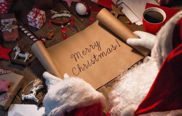 Картинка Новый Год, Рождество, christmas, merry christmas, gift, letter, decoration, xmas, santa