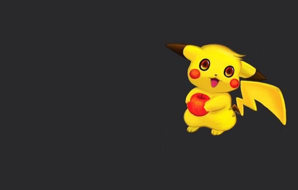 Картинка минимализм, аниме, арт, пикачу, покемон, детская, яблочко, Pokémon Go, Michael Galapon, Old digital paintings and …