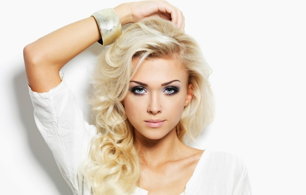 Картинка blue eyes, blonde, looking, Make-up
