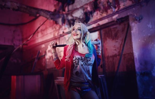 Картинка косплей, Харли Квинн, DC Comics, Harley Quinn, Suicide Squad, Отряд Самоубийц, Robbie Margot, Робби Марго, …