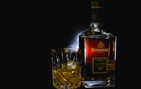 Картинка стакан, бутылка, алкоголь, ром