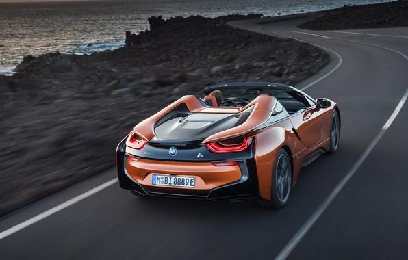 Картинка Roadster, вид сзади, 2018, BMW i8