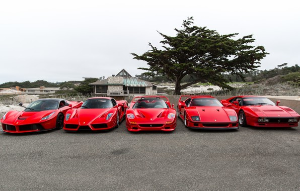 Картинка Ferrari, F40, Enzo, Italia, RED, F50, LaFerrari, 288 GTO