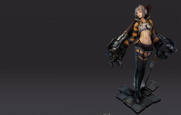 Картинка Concept, Girl with robo arms - model, Saimon Ma