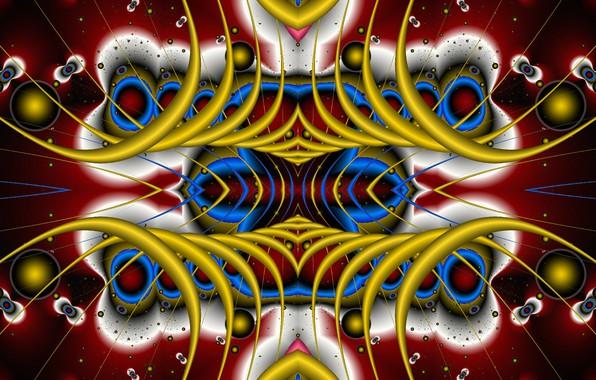 Картинка фантазия, узоры, симметрия