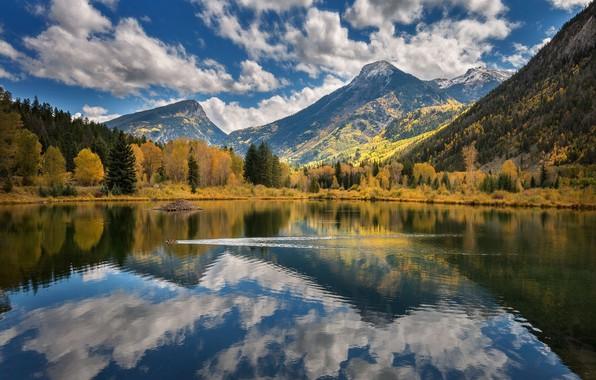 Картинка пейзаж, природа, отражение, красота