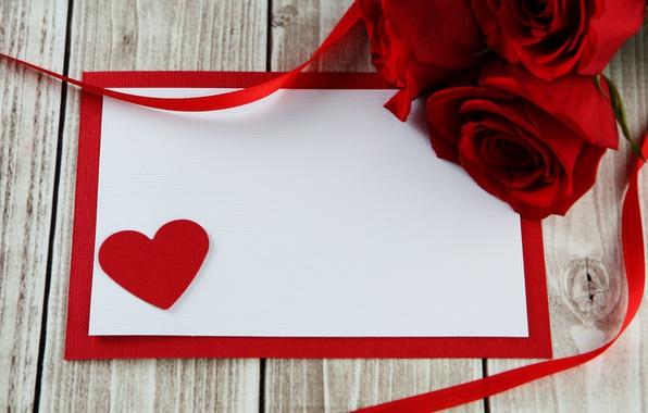 Картинка сердце, red, love, romantic, hearts, valentine's day, gift, roses, красные розы
