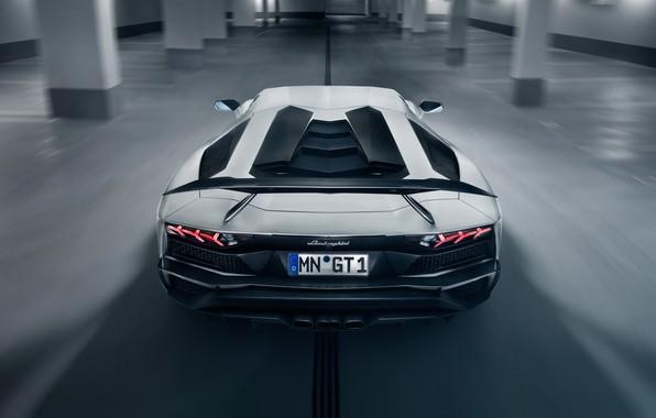 Картинка фары, Lamborghini, суперкар, спойлер, вид сзади, 2018, Novitec Torado, Aventador S