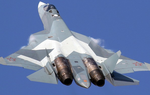 Картинка Т-50, ПАК ФА, ВКС России, истребитель пятого поколения, Су-57, ОКБ имени П. О. Сухого, перспективный …