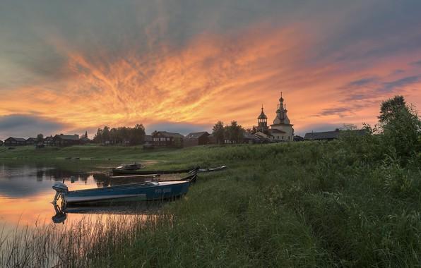 Картинка деревня, Архангельская область, Кимжа