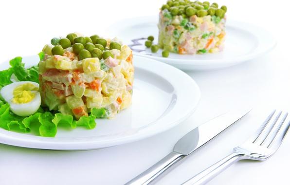 Картинка зелень, овощи, салат, оливье