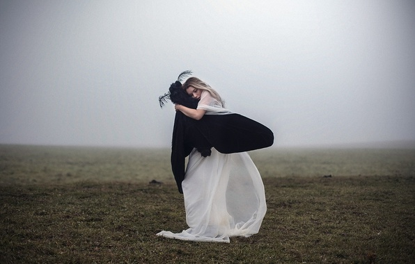 Картинка мечта, девушка, туман, настроение