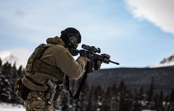 Картинка оружие, армия, солдат, экипировка