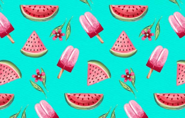 Картинка лето, фон, обои, текстура, summer, background, pattern, Watercolor