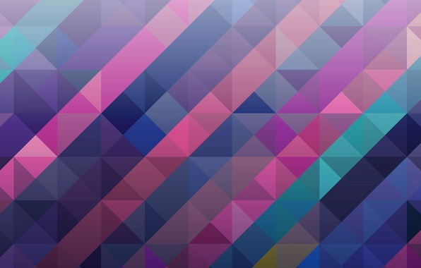 Картинка абстракция, краски, объем, квадрат, треугольник