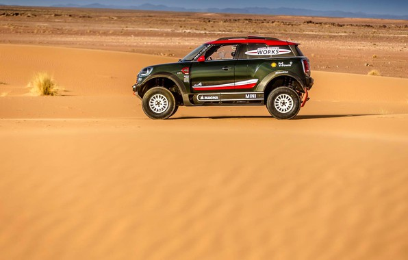 Картинка Песок, Mini, Спорт, Пустыня, Rally, Dakar, Дакар, Внедорожник, Ралли, X-Raid Team, MINI Cooper, X-Raid, X …