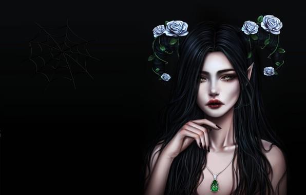 Картинка девушка, праздник, фэнтези, арт, хэллоуин, No Name