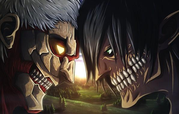 Картинка big, anime, fight, giant, manga, Attack on Titan, kyojin, japonese, Shingeki no Kyoji