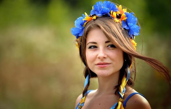 Картинка ленты, венок, украинка, кареглазая, Дана, Дана Гергардт