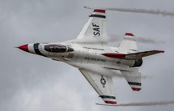 Картинка полет, истребитель, кабина, Fighting Falcon, F-16C