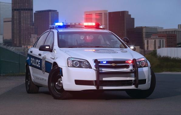 Картинка авто, город, полиция, Chevrolet, Police, Patrol, Caprise