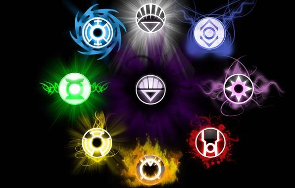 Картинка фонари, love, life, symbol, will, death, fear, lanterns, hope, DC Comics, anger, compassion, greed, Sinestro …
