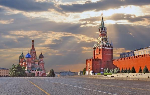 Картинка Москва, Кремль, Россия, Красная площадь, Moscow, Kremlin