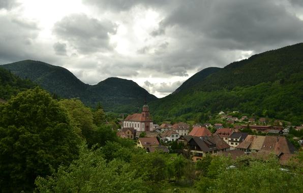 Картинка Франция, Горы, Панорама, France, Mountains, Panorama, Urbes, Юрбес