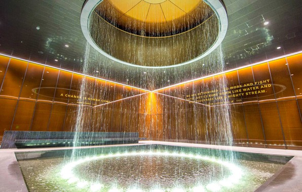 Фото обои фонтан, Вашингтон, США, Национальный музей афроамериканской истории и куль
