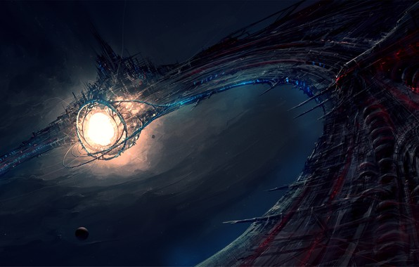 Картинка звездные врата, ChrisCold, Зловещая космическая станция